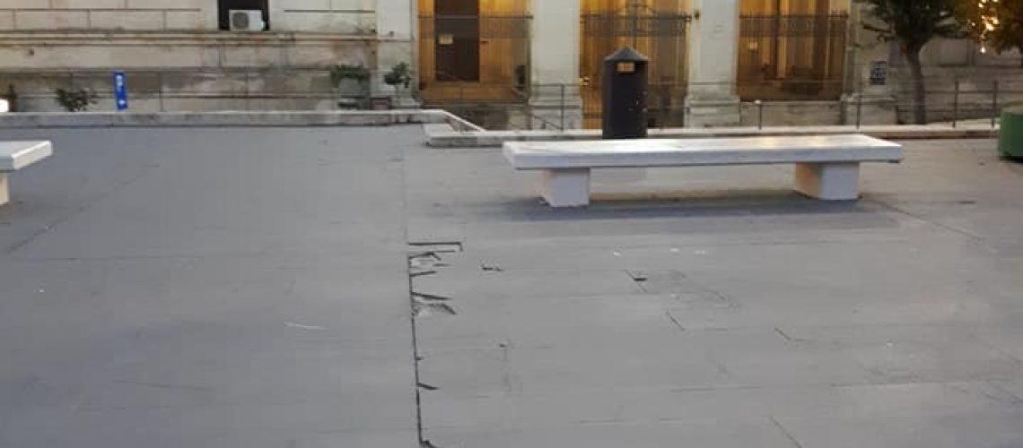 La condizione di piazza Poste a Ragusa