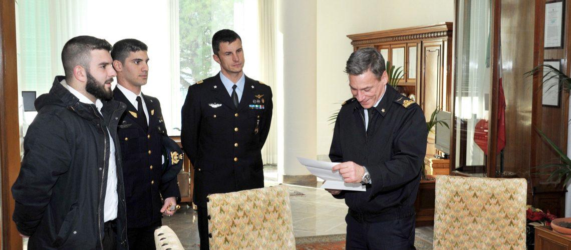 da sx - Salvatore Caccamo, Mattia Giovanni Antoci,Maggiore Ambrogio Zanette,Generale Enrico Degni