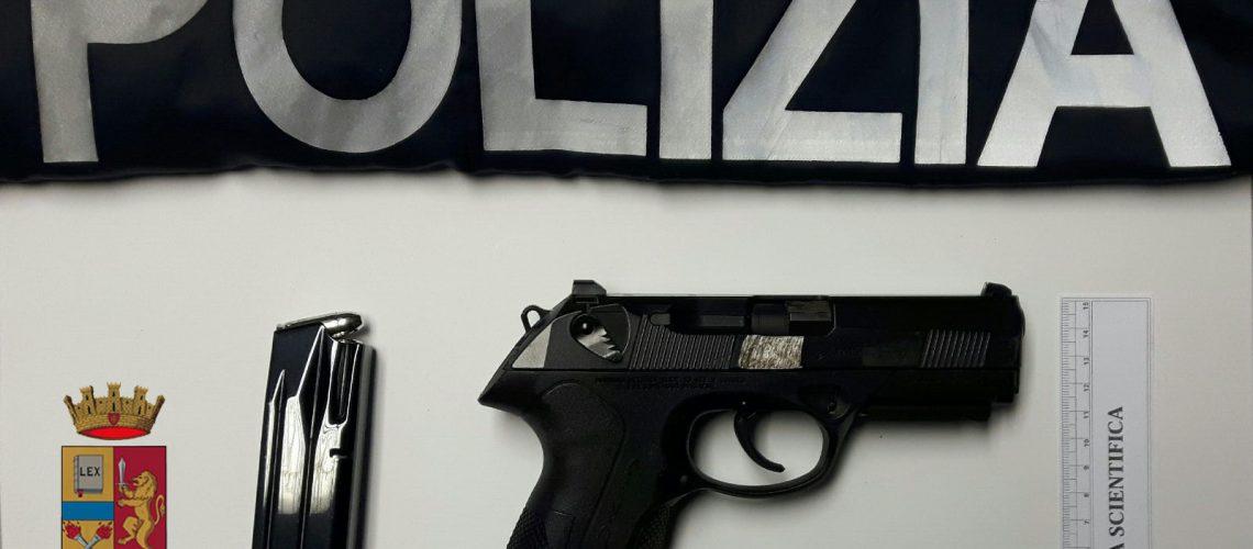 polizia di stato rinviene pistola